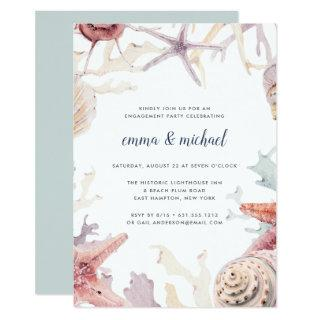 Coral Reef Engagement Party Invitations