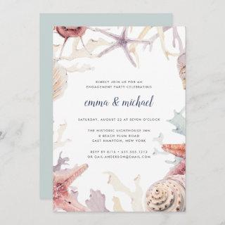 Coral Reef Engagement Party Invitation