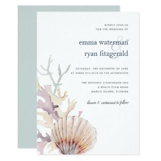 Coral Reef Wedding Invitation