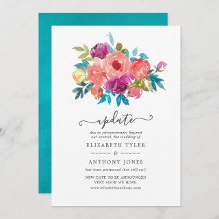 Coral, Turquoise and Purple Floral Wedding Update