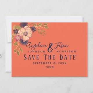 Coral Wedding Save The Date