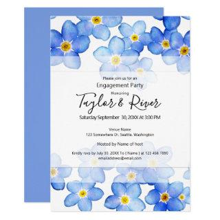 Country Blue Forget-Me-Nots Engagement Party Invitations