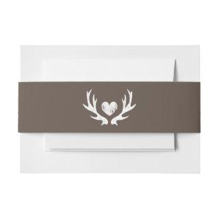 Country chic deer antler wedding belly bands Invitations belly band