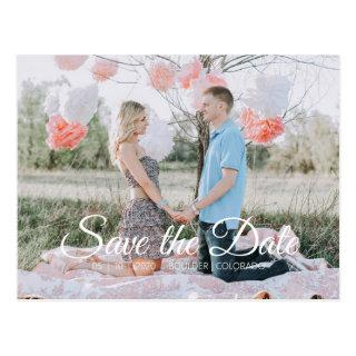 Country Chic | Save the Date Photo Postcard