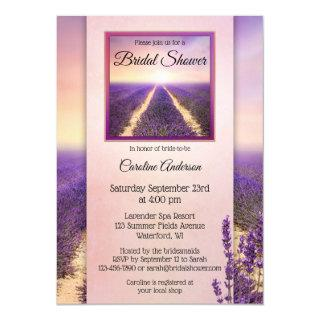 Country Lavender Floral Bridal Shower Invitations