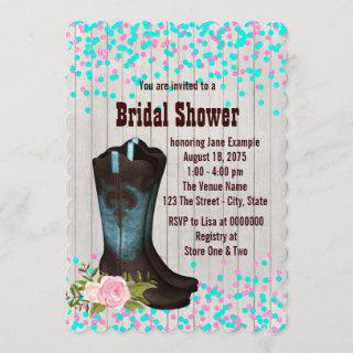 Country Rustic Bridal Shower Invitations