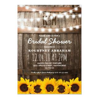Country Rustic Bridal Shower | Sunflowers Invitations
