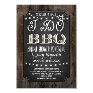 Country Rustic I Do BBQ Bridal Shower Invitations