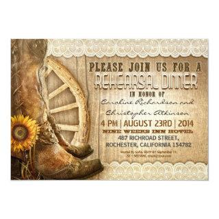 country style rustic wood rehearsal dinner invites
