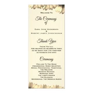 Country Style Wedding Ceremony Card