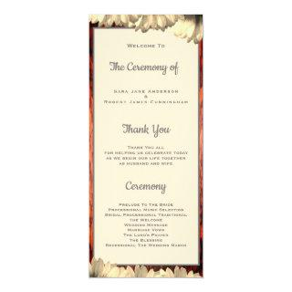 Country Wedding Cherry Wood Frame Ceremony Card