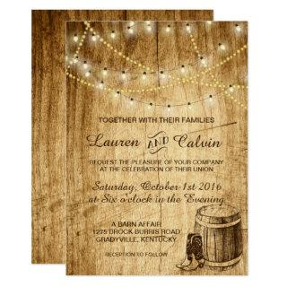 Country wedding Invitations with Cowboy boots