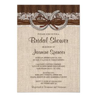 Country Western Horseshoe Bridal Shower Invitations