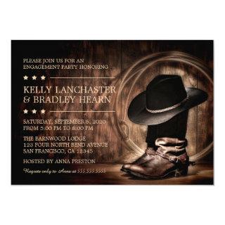 Country Western Wild West Engagement Party Invitations