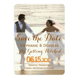Couple Running on the Beach/Save The Date Invitation