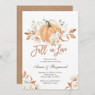 Couple Shower  Fall In Love Bridal Shower Invitations