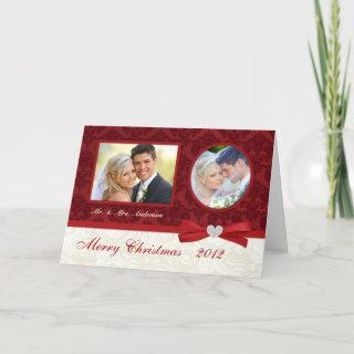 Couples First Christmas 2-Photo Holiday Cards