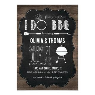Couples I Do BBQ Engagement Party Invitation