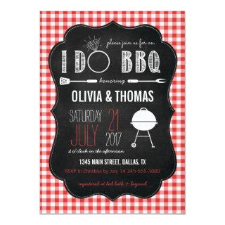 Couples I Do BBQ Engagement Shower Invitations
