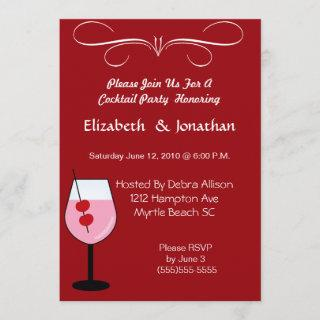 Couples Mixed Drink Cocktail  Party  Invitation