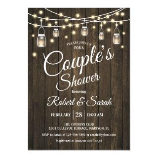 Couple's Shower - Rustic Wood Invitations