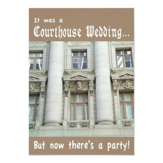 Courthouse Wedding Party Invitations
