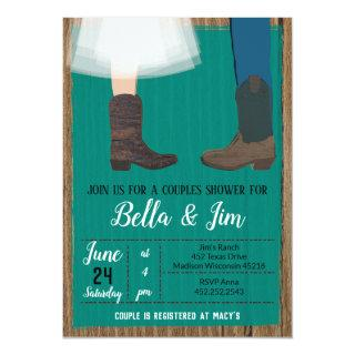 Cowboy Couples Bridal shower, wedding shower Invitation