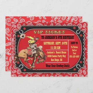 Cowboy Rodeo Western Birthday party