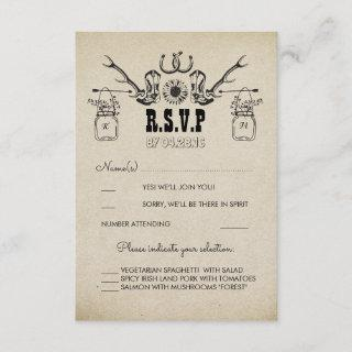 Cowboy Shoes Country Rustic Wedding RSVP