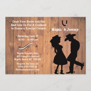 Cowgirl and Cowboy Cookout/BBQ Invitation