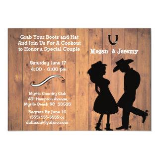 Cowgirl and Cowboy Cookout/BBQ Invitations