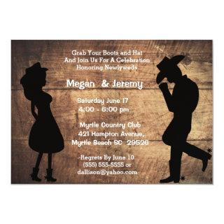 Cowgirl and Cowboy Reception  Invitations