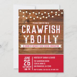 Crawfish Boil Graduation Seafood Party Invitation
