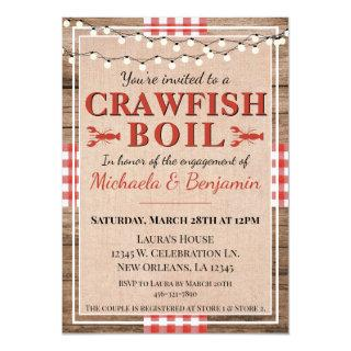 Crawfish Boil Lobster Party Engagement Invitations