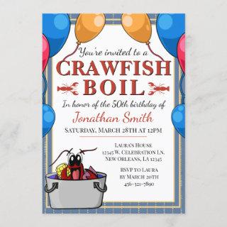 Crawfish Boil Special Event Birthday Invitations