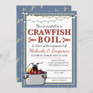 Crawfish Boil Special Event Engagement Party Invitations