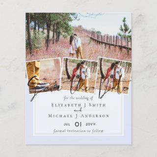 Create Own Modern Save the Date Wedding Cards