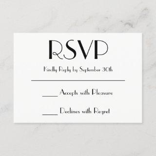 Create Your Own Black and White RSVP