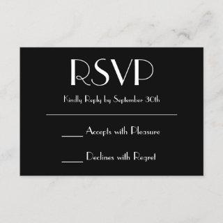 Create Your Own Black RSVP