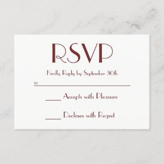 Create Your Own Burgundy and White RSVP
