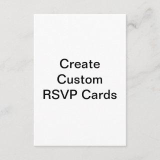 create your own customized RSVP Cards