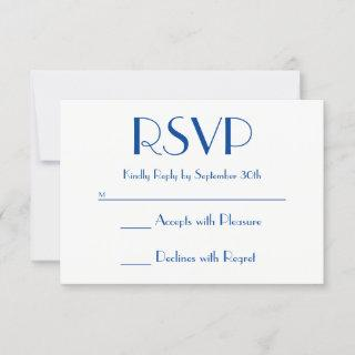 Create Your Own Deep Blue and White RSVP