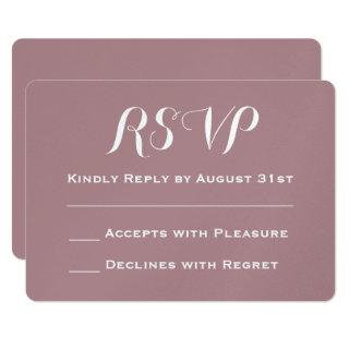 Create Your Own Dusty Rose Wedding RSVP Invitations