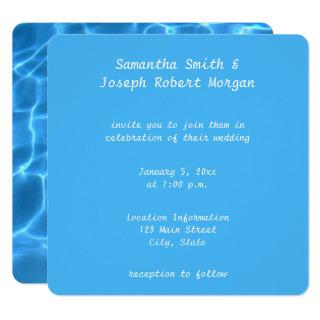 Create Your Own Swimming Pool Photo Wedding Invitations