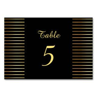 Creative Black And Gold Template Modern Elegant Table Number