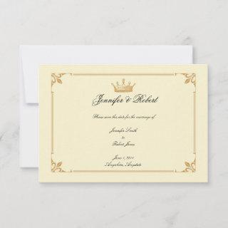 Crown Regency in Gold and Ivory Save the Date