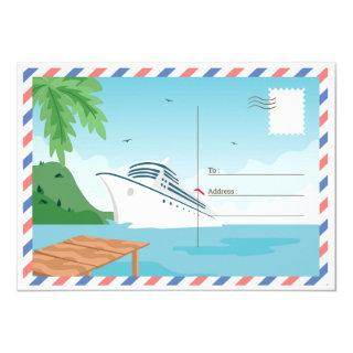 Cruise Ship Save the Date Postcard/ Invitations