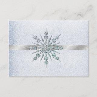 Crystal Snowflakes Winter Wedding RSVP