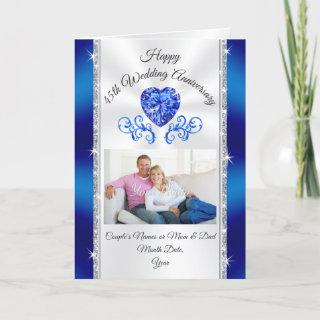 Custom 45th Wedding Anniversary Cards for Wife