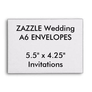 "Custom A6 Envelopes 5.5"" x 4.25"" Invitations"